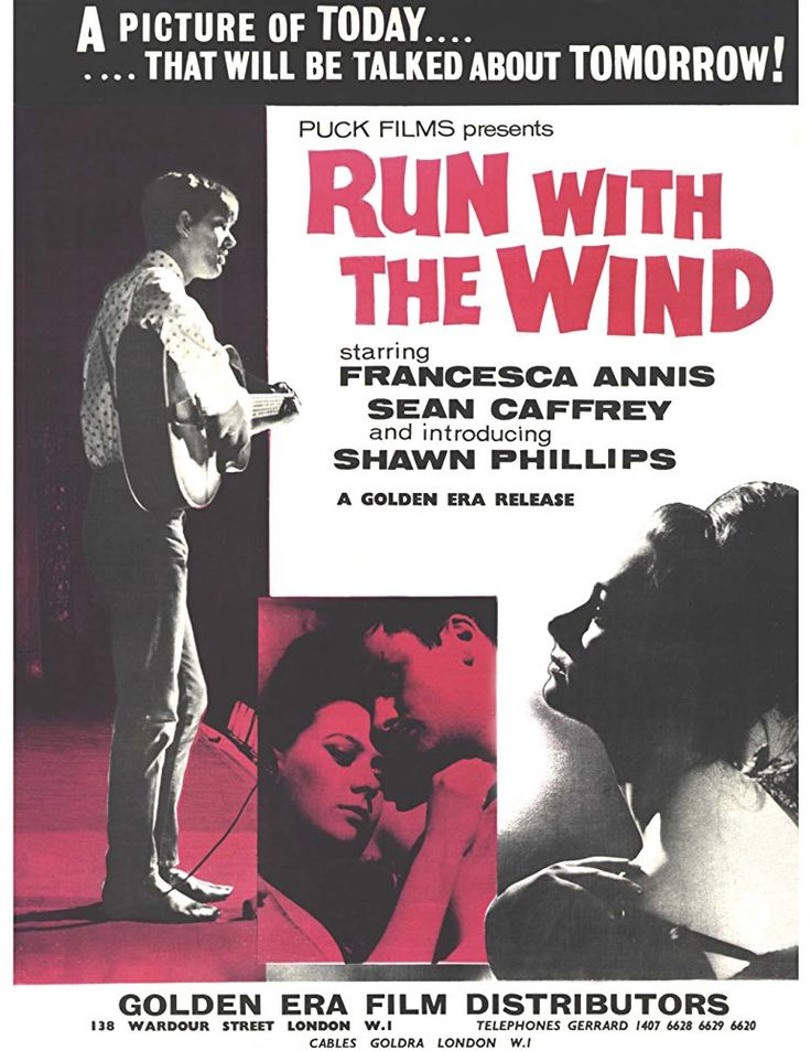 Sixties   Run With the Wind, starring Francesca Annis, Jack Smethurst, Sean Caffrey and Shawn Phillips, 1966