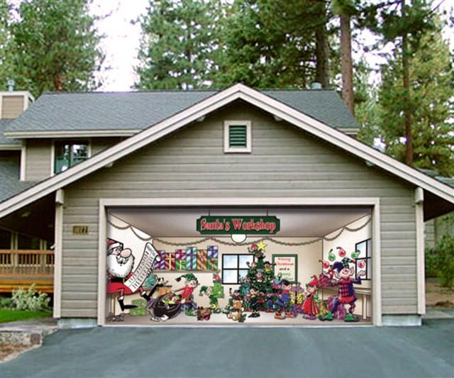 Exceptional Pictures Of Christmas Garage Door Decoration Elizabeth Photo