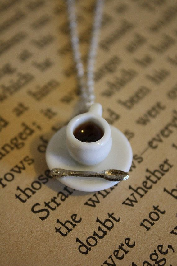 How cute is this coffee necklace?!