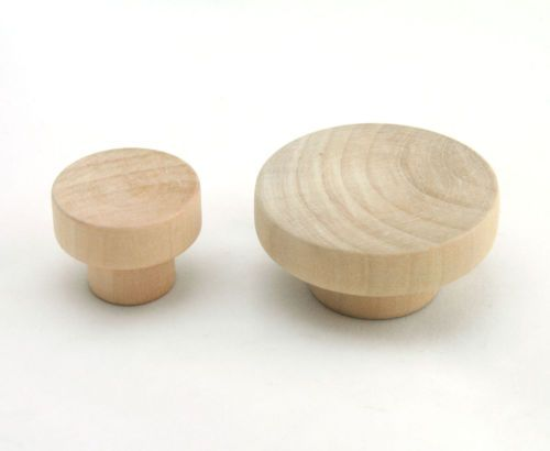 wooden unfinished drawer pulls kitchen cabinet knobs cupboard flat head k020