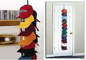 Baseball hat storage hanger - perfect for that unmanageable cap collection my husband and son manage to keep