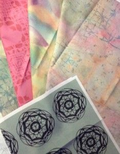 The fabrics designed using Art Journal spreads have arrived from Spoonflower, blog post by Dale Anne Potter.