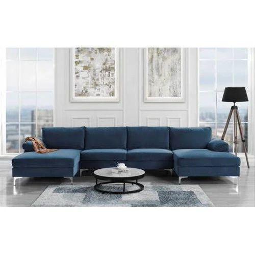 Divano Modern Large Velvet Fabric U-Shape Sectional Sofa ...