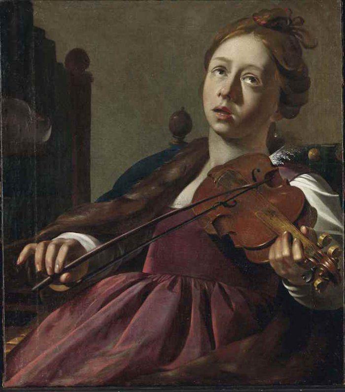 Wouter Pietersz Crabeth le jeune (1594-1644) Sainte Cécile jouant du violon - Pinterest