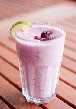 VERY Berry Protein Shake • 1 scoop Dymatize Berry Blast protein powder • 1 cup unsweetened vanilla almond milk • 1/2 cup frozen berries • 1/2 cup ice • 1 teaspoon lime juice Blend and Enjoy!