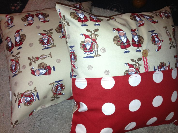 Mix'n'match Santa polka dot cushions  https://www.facebook.com/pages/Oh-Sew-Maeve/1410531509175788?ref=hl
