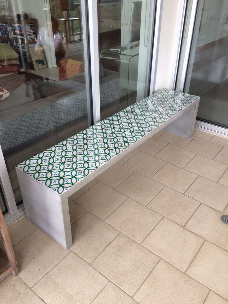 Polished Concrete Bench Seat by Mitchell Bink Concrete Design.  www.mbconcretedesign.com.au