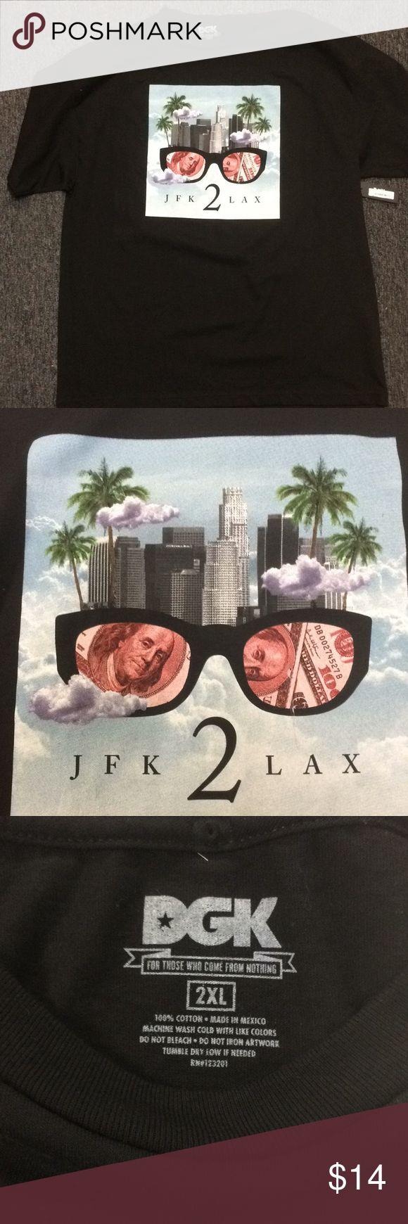 New DGK Black tee DGK JFK 2 LAX XXL Tee. New with tag DGK Shirts Tees - Short Sleeve