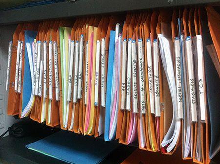 Dossiers suspendus | Rangement dossier suspendu, Dossiers suspendus