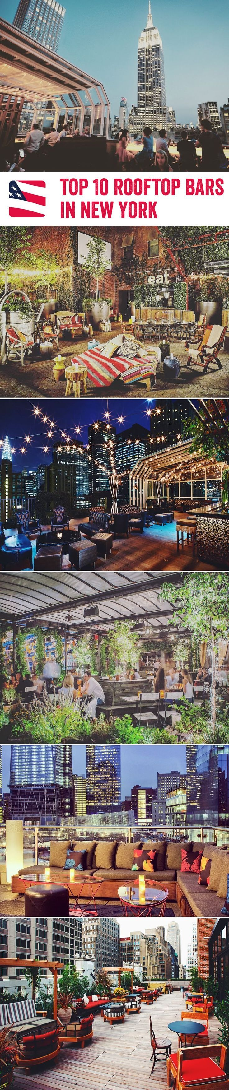 American Sky has collated their favourite open-air bars in New York City.