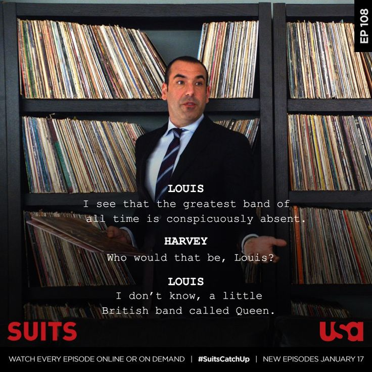 Right on Louis #suits #usa Suits USA