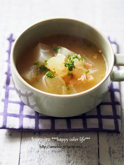 夏の定番★とろっとろ!冬瓜のスープ by トイロさん   レシピブログ ...