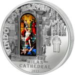 Architecture of Milan, Milan Cathedral, Windows of heaven, Cook Islands 2013 10$ Milan Cathedral Windows Of Heaven Proof-Like Silver Coin