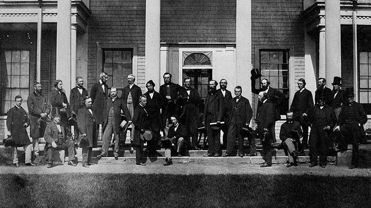 Charlottetown, PEI • September 11,1864 • Constitutional Convention at Charlottetown, PEI, of Delegates from the Legislature of Canada, New Brunswick, Nova Scotia, and Prince Edward Island to take into consideration the Union of the British North American Colonies | In total, 36 men attended at least one of the constitutional conferences that gave birth to Confederation and the nation of Canada. Here's a look at how some of them shuffled off this mortal coil. | Macleans.ca