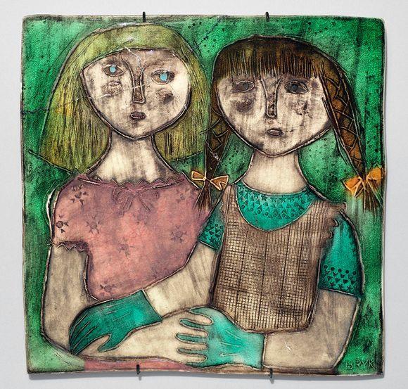 Rut Bryk: Kaksi tyttöä, 1950