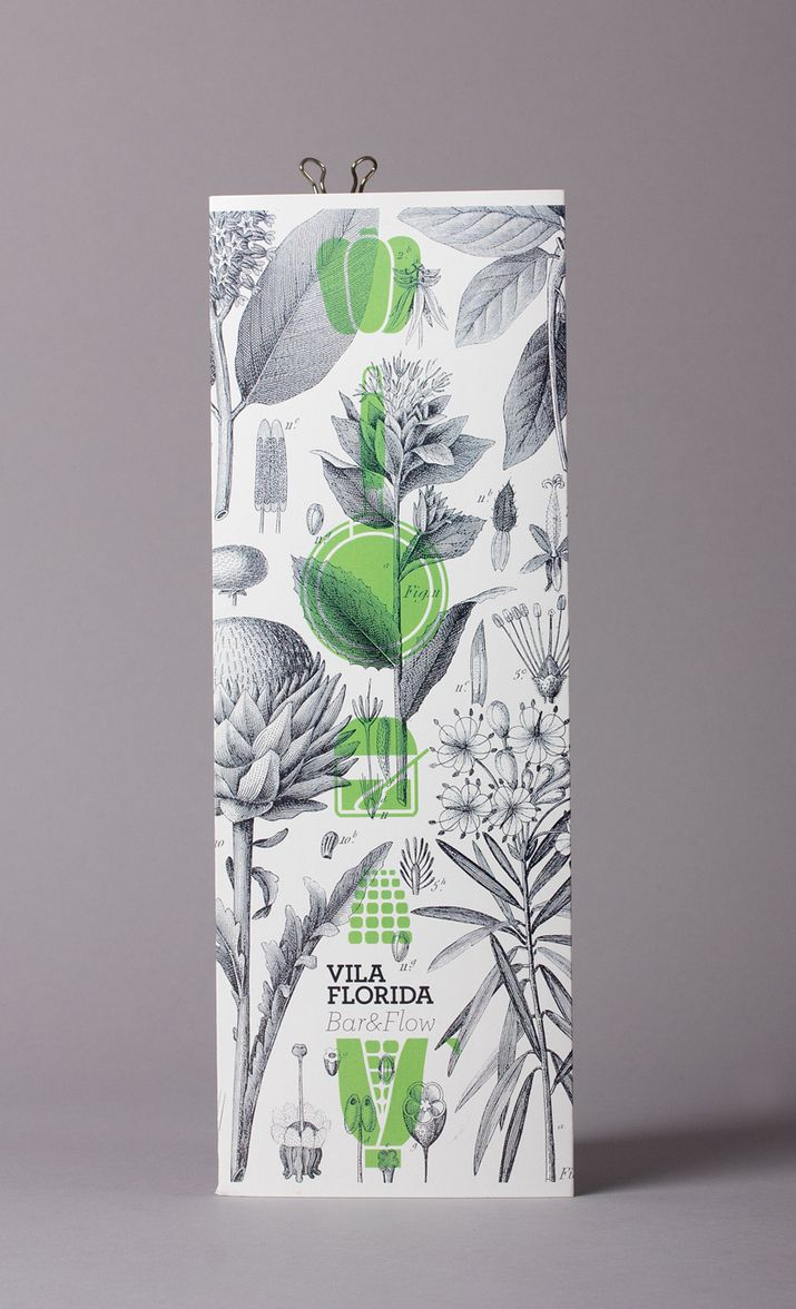 Vila Florida packaging with botanical illustrative detail designed by Lo Siento.