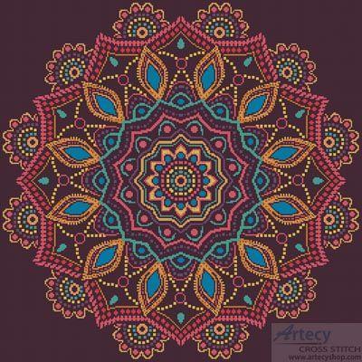 Ornamental Mandala - Cross Stitch Chart - Click Image to Close