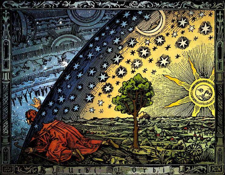 Grabado del libro de Camille Flammarion, L'Atmosphere: Météorologie Populaire  (París, 1888),  versión coloreada de Hugo Heikenwaelder (...