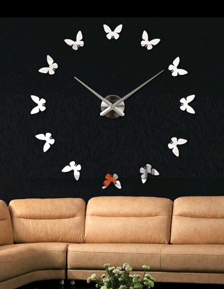 c831699d9 ساعات حائط مودرن | اشياء للمنزل | Clock, Home decor, Wall