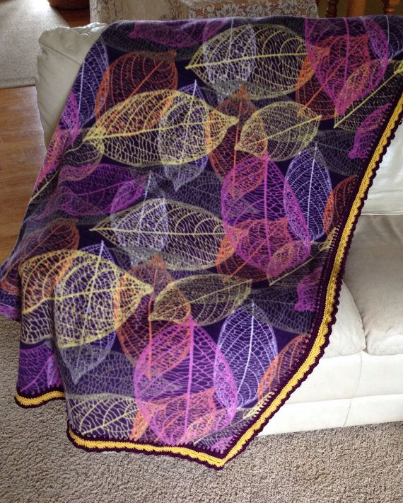 Fleece Blanket With Beautiful Soft Crocheted Edge Large