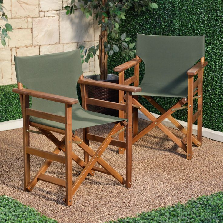 The Coral Coast Outdoor Directors Chair   Set Of 2 Chair Is Built From Durable  Acacia Wood With A Natural Medium Wood Finish. The Fabric For The Seat And  ... Part 39
