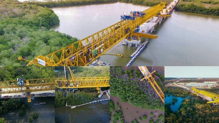 Así va El  Viaducto Gran manglar En  ciénaga de la virgen Cartagena Colo...