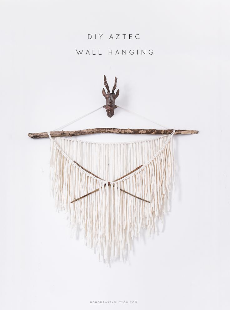 diy aztec wall hanging No home without you 1