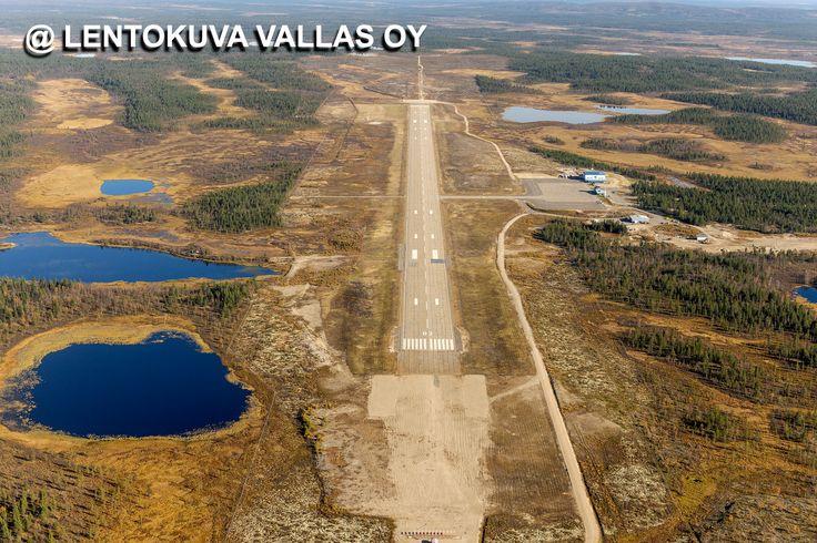 Enontekiö, lentokenttä Ilmakuva: Lentokuva Vallas Oy