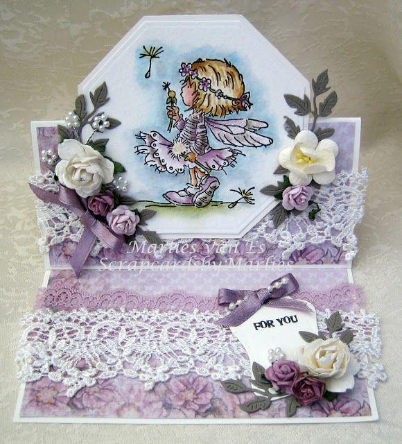 Scrapcards by Marlies: Feetje in het lila