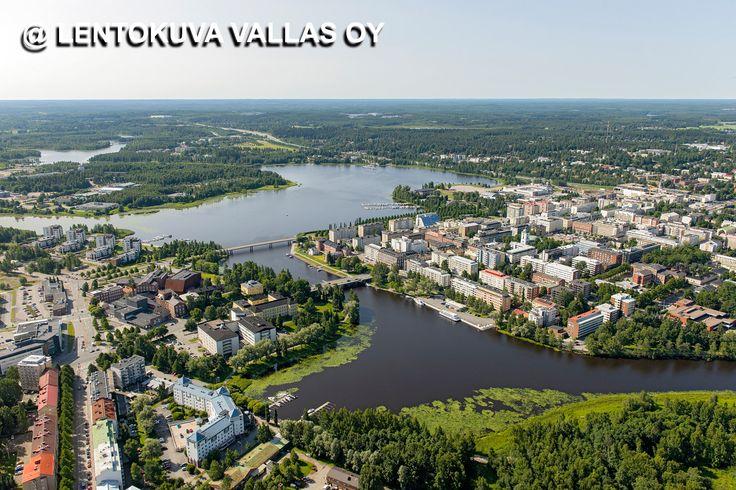 Hämeenlinnan kaupunkia ilmasta Ilmakuva: Lentokuva Vallas Oy