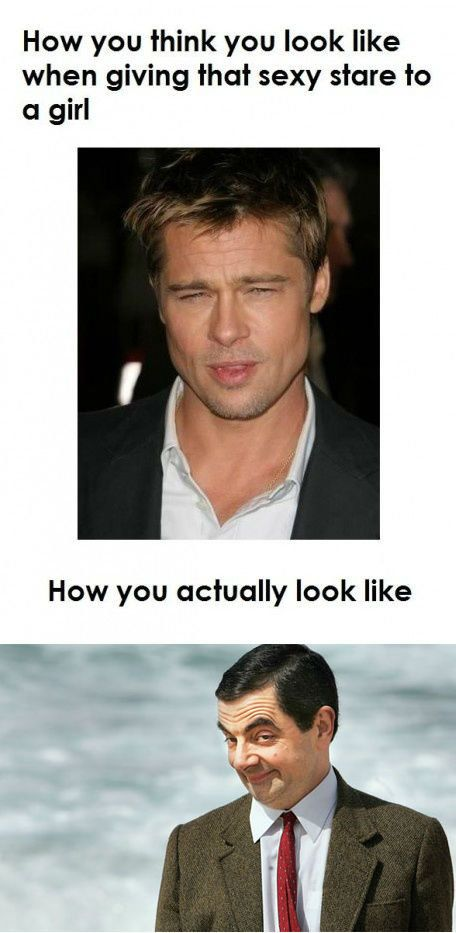:D: Sexy Stare, Funny Pictures, Bradpitt, Funny Stuff, So True, Brad Pitt, So Funny, Mr Beans, True Stories