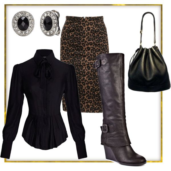 leopard for office, created by on Full Circle Vince Camuto