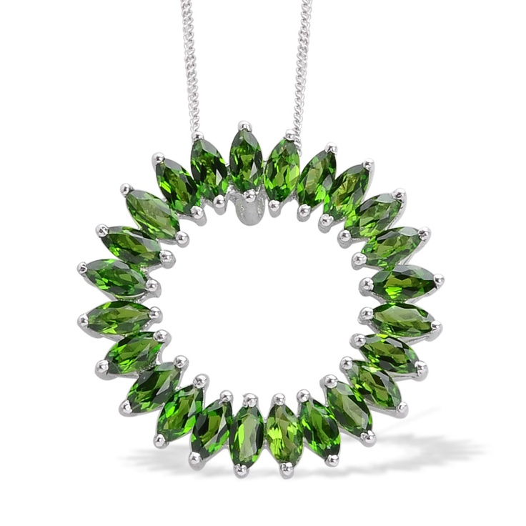 71 best russian diopside jewelry images on pinterest ring sizes liquidation channel russian diopside circle pendant with chain 20 in in platinum overlay aloadofball Images