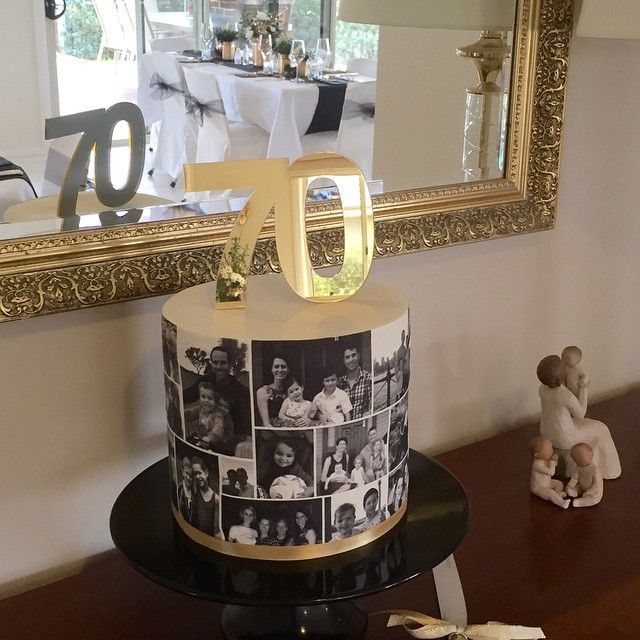 70th birthday cake for my Dad! Thankyou to @communicakeit for the gorgeous topper. Edible image printed using Edible Image Supplies printing system #party #acdn