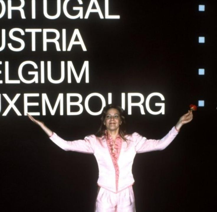 """Corinne Hermès, winner of the Eurovision Song Contest 1983 with """"Si la vie est cadeau"""" for Luxembourg"""