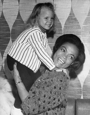 Eartha Kitt and her daughter Kitt McDonald in London in 1965.