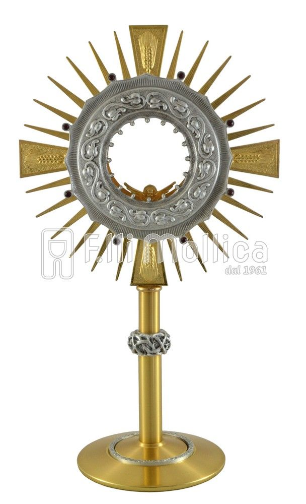Monstrance Node with crown of thorns and Red Stones