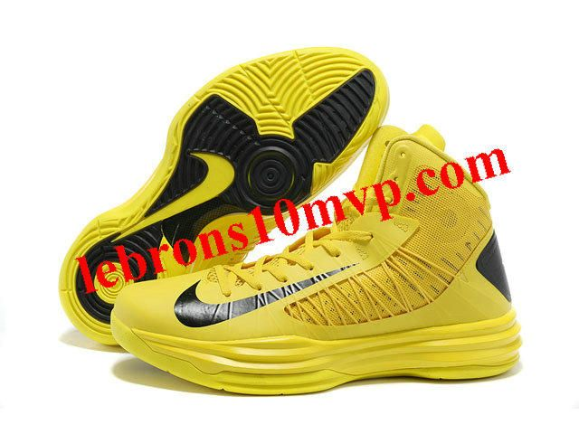 Buy 2013 New Nike 2013 Womens Lunar Hyperdunk Basketball Shoes Yellow Black  for Men Fashion Shoes Store
