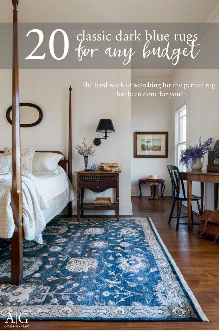 The hard work of shopping has been done for you with this collection of twenty classic dark blue area rugs from various online retailers.