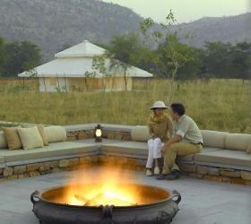 Lounge and tent at Aman-i-khas, Rajasthan, India