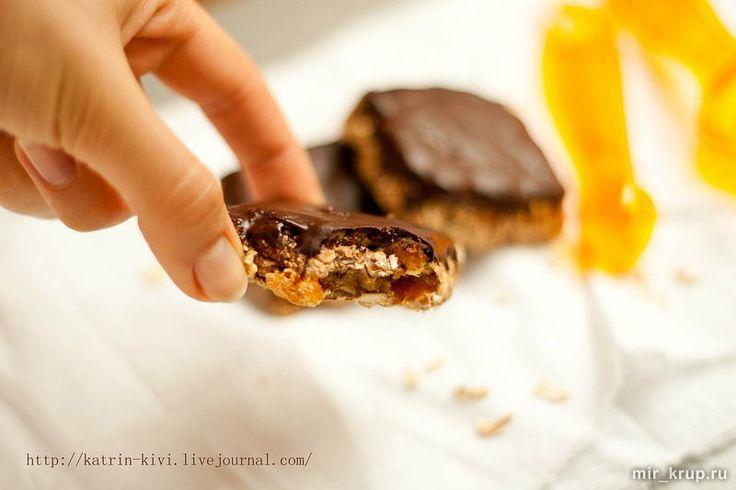 Печенья из овсяных хлопьев в шоколаде
