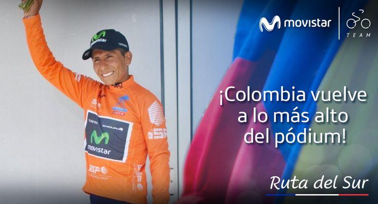 ¡Nairo Quintana y el Movistar Team ganadores de la Ruta del Sur! Cada vez mas cerca del #SueñoAmarillo