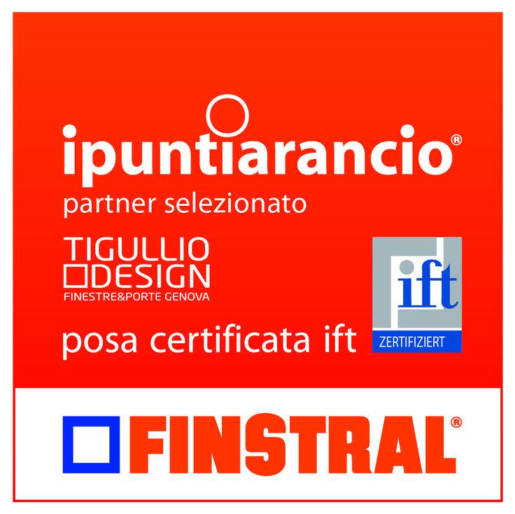 #TigullioDesign #puntoarancio #Finstral. Certificata #Ift