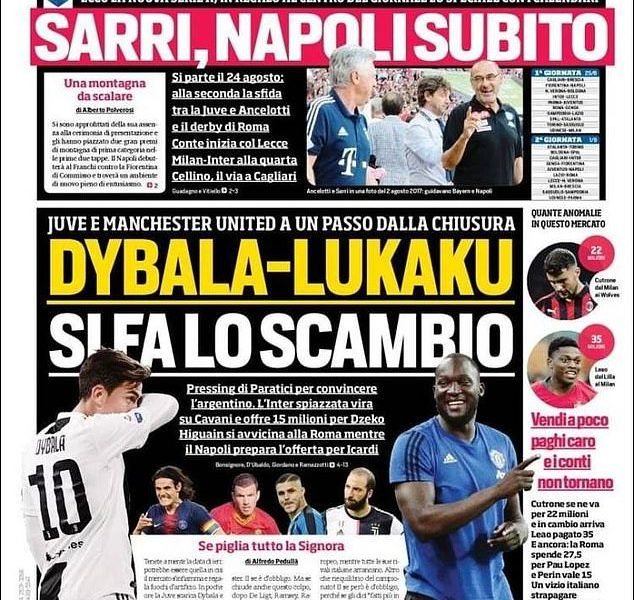 Man u and juve' on lukakudybala swap at point to complete