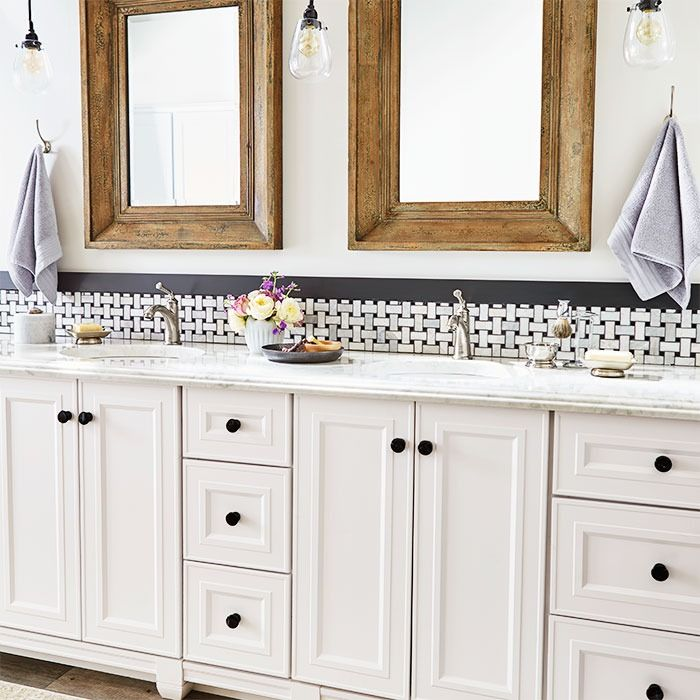 Transform A Dated Bathroom By Replacing An Old Vanity With One That Has A Furniture