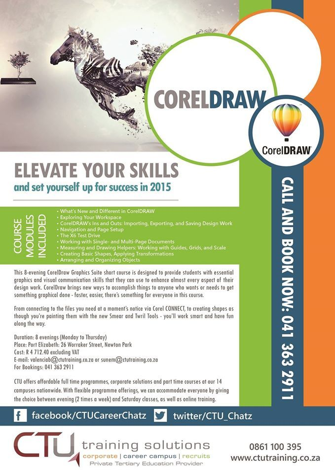 Want to do a short course in CorelDraw? Contact CTU Port Elizabeth today!