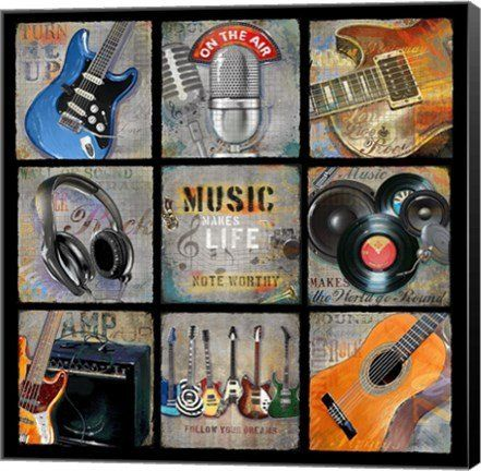 Music Patch Music Canvas Wall Art Print by Jim Baldwin