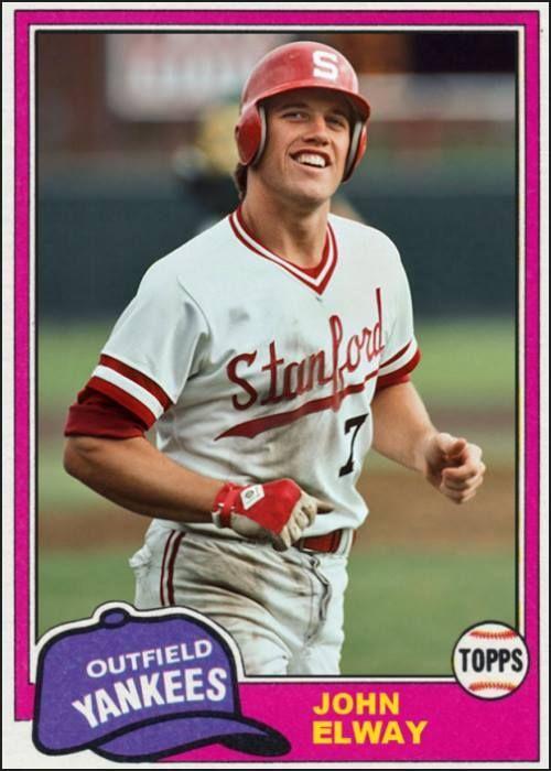 John Elway Baseball Cards Sports Sports Baseball Nfl Broncos