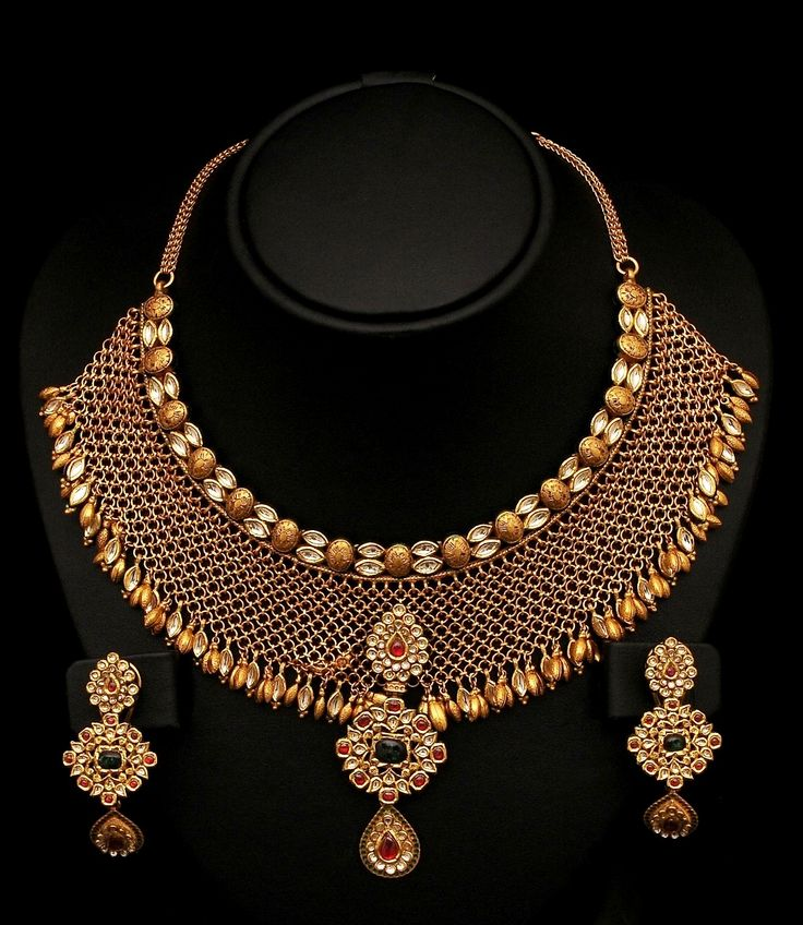 123 best Bridal Jewelry images on Pinterest | Gold decorations, Gold ...