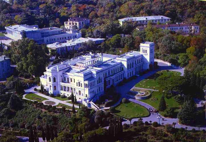 Aerial View Of Livadia Palace Livadia The Former Summer